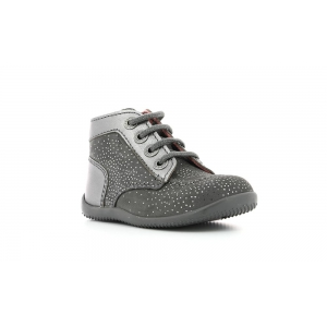 Kickers BONBON GRIS METALLIQUE