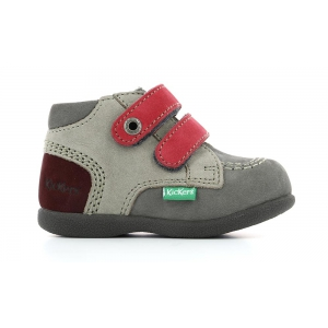 Kickers BABYSCRATCH GRIS ROSE