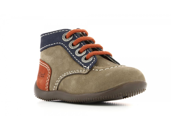 Kickers BONBON GRIS MARINE ORANGE