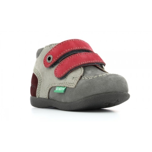 Kickers BABYSCRATCH GRIS ROSE GRIOTTE