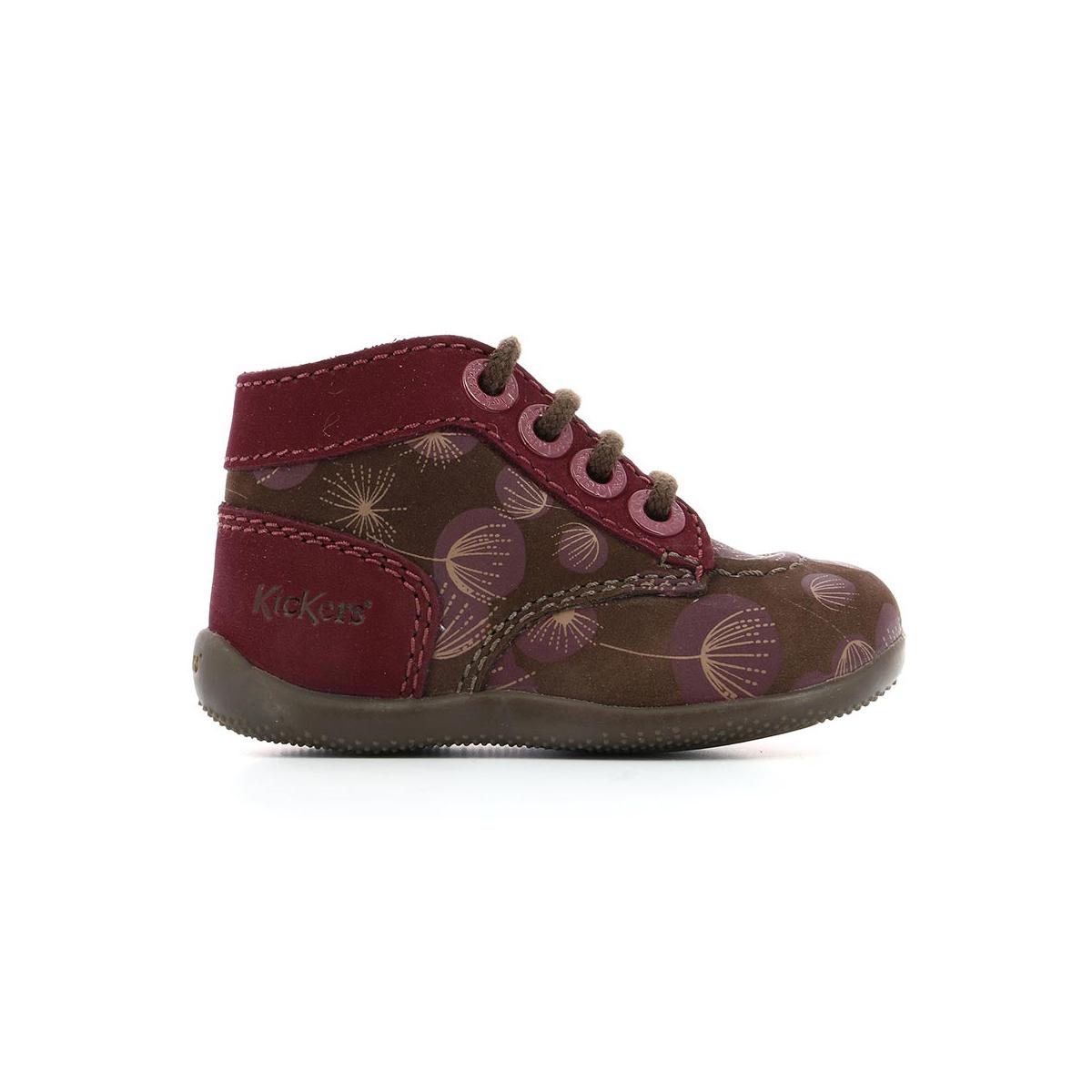 Enfant Marron Herbarium Kickers Bonzip Print Chaussures qZ0xwEAq