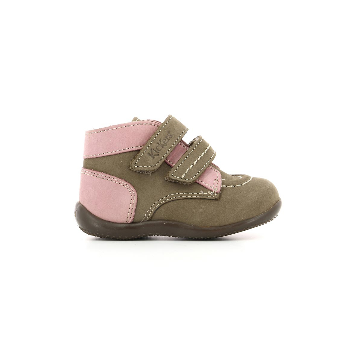 Niños Rosa Gris Bonkro Zapatos Kickers P10qzx