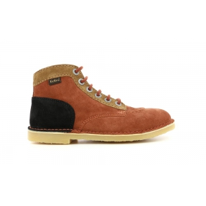 Kickers ORILEGEND ORANGE DARK BROWN BLACK