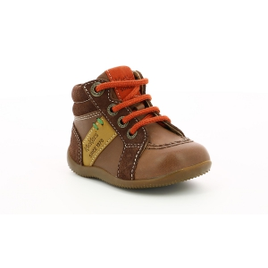 Kickers BAKARI DARK BROWN YELLOW ORANGE