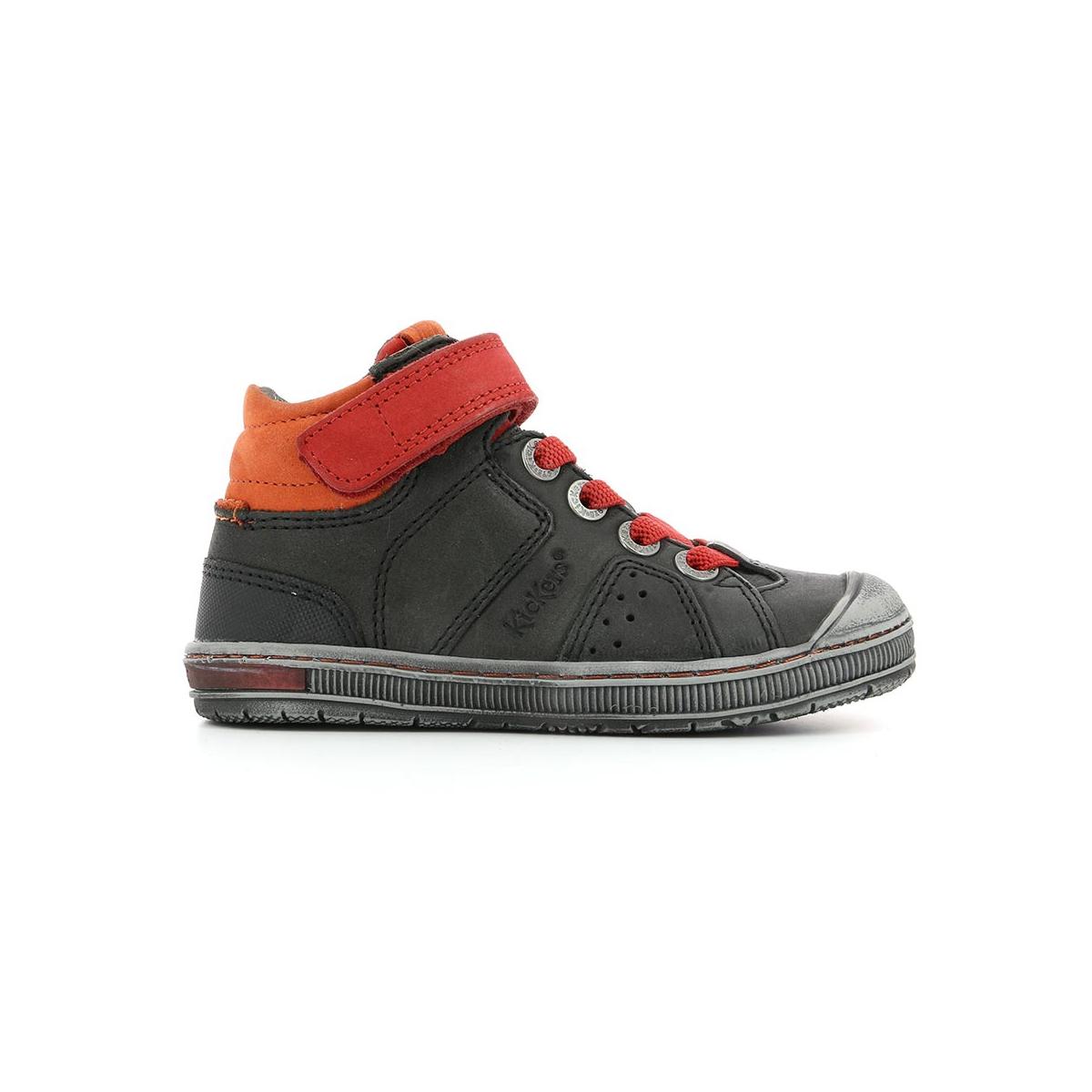 Chaussures Fonce Rouge Enfant Gris Iguane Kickers rqrwv