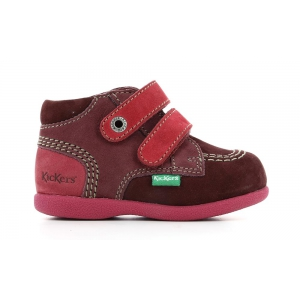 Kickers BABYSCRATCH BURGUNDY FUSCHIA