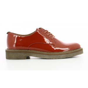 Kickers OXFORK DARK RED PATENT