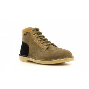 Kickers ORILEGEND BROWN LIGHT BEIGE BLACK