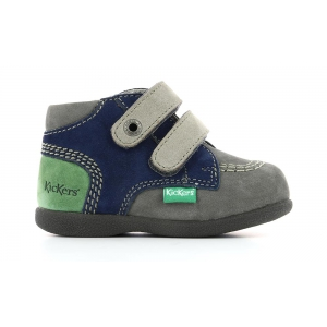Kickers BABYSCRATCH GREY GREEN GREY