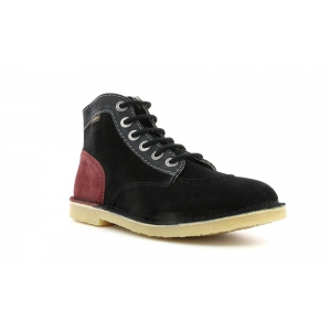 Kickers ORILEGEND BLACK GREY BURGUNDY