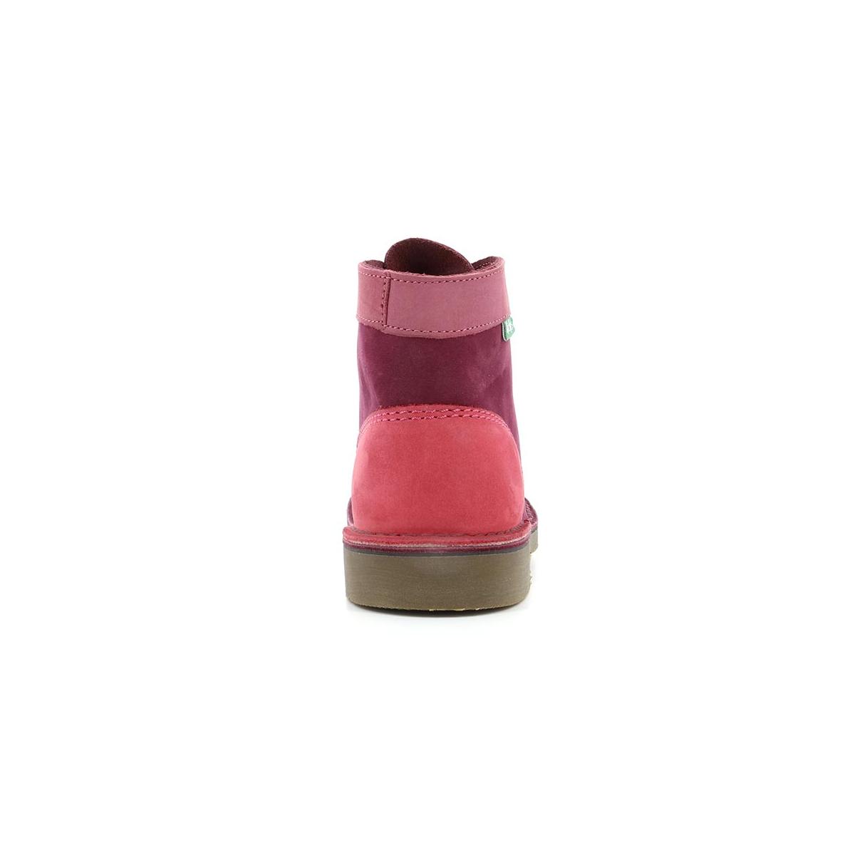 Chaussures Rose Col Enfant Kick Kickers Bordeaux OxPOq