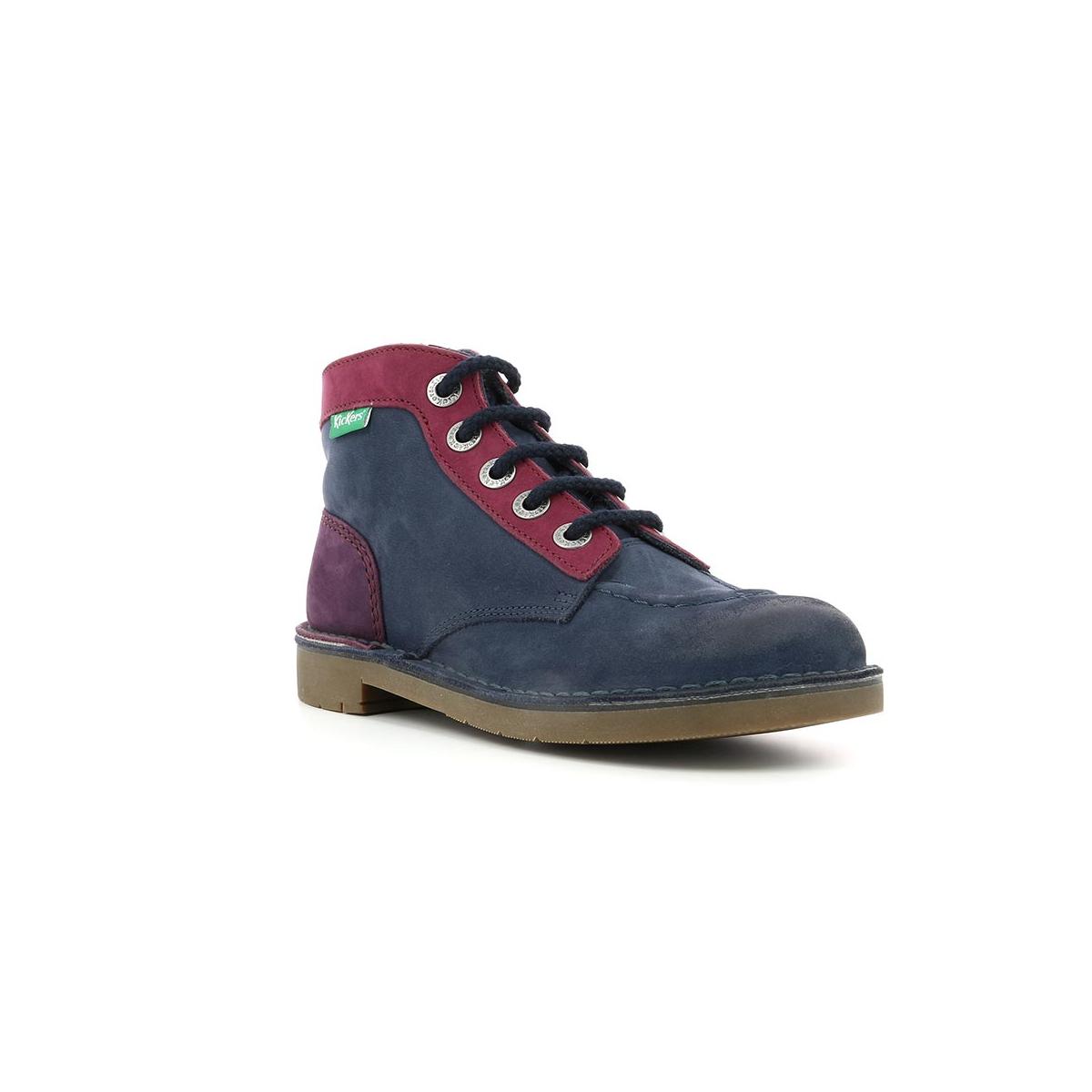 c71cefcd55d054 Kid's shoes KICK COL NAVY FUSHIA - Kickers