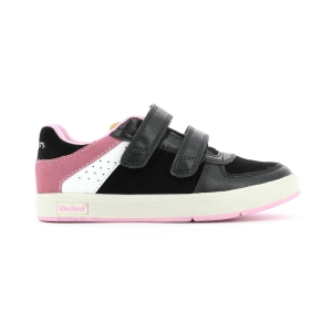 Kickers GREADY LOW CDT NEGRO ROSA