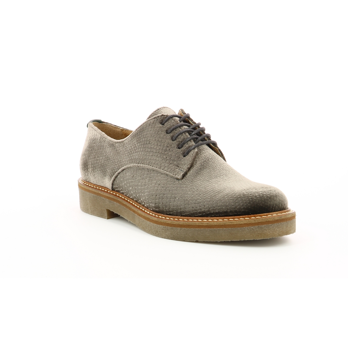 b403f2321f81 Chaussures Femme OXFORK ARGENT VELOURS - Kickers