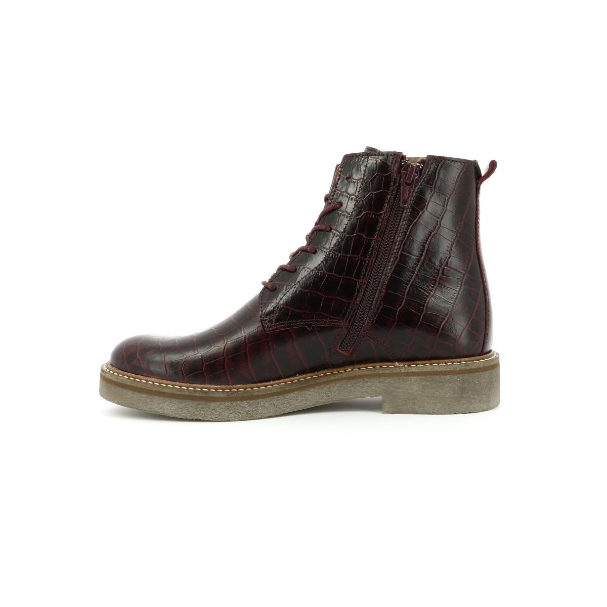 64757d28402a87 Chaussures Femme OXIGENO BORDEAUX - Kickers