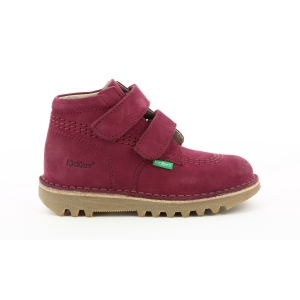 Kickers NEOVELCRO ROSE FONCE