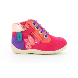 Kickers BIFLORID FUCHSIA ORANGE PURPLE
