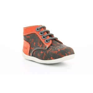 Kickers BONBON GRIS ORANGE