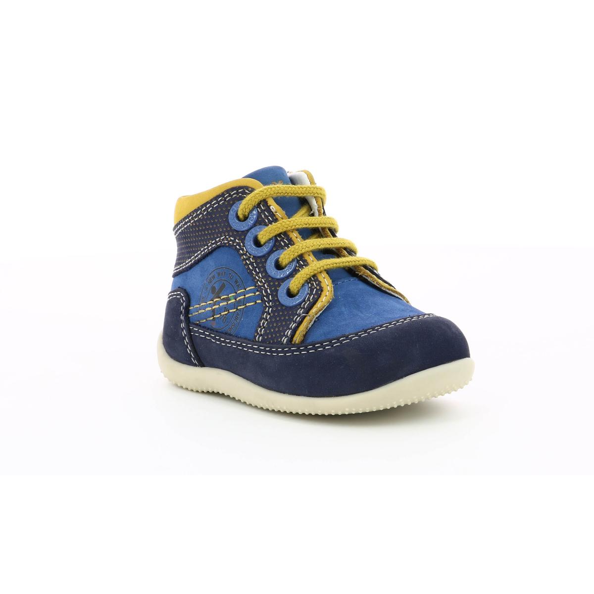 Enfant Biboy Chaussures Bleu Jaune Kickers 4R35AjLq
