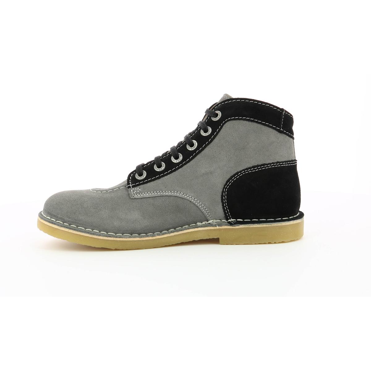 0f880da6a84d18 Orilegend Chaussures Gris Noir Homme Kickers ARL5qc34j