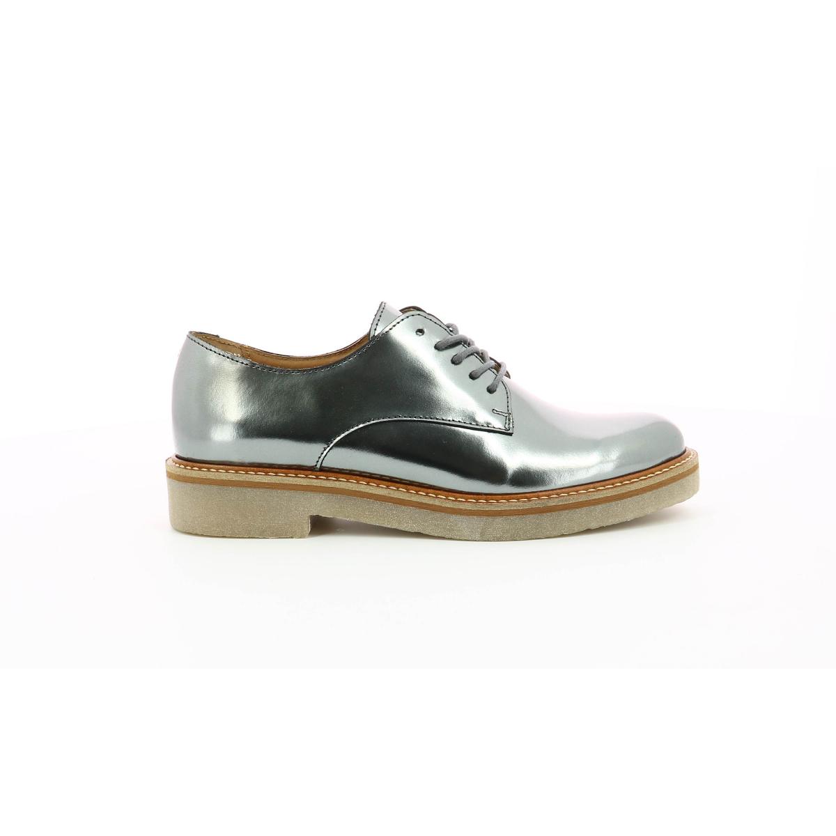 Derbies pour femme Oxfork gris foncé mirroir Chaussures