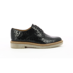 Kickers OXFORK BLACK CRACKED