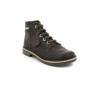 Kickers KICK COL DK BROWN WH STICHING PERM