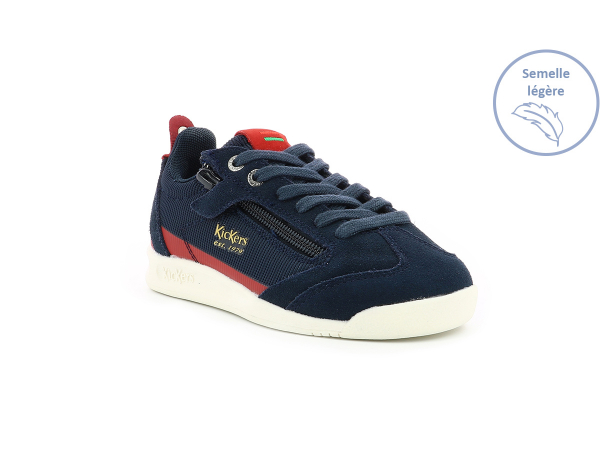 KICK 18 CDT ZIP NAVY  RED