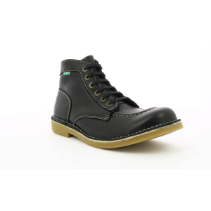 Kickers KICKSTONER BLACK PERM HONEY SOLE