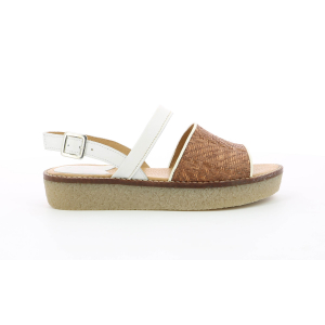 Kickers VICTORIETTE BROWN RAPHIA WHITE