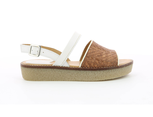 VICTORIETTE BROWN RAPHIA WHITE