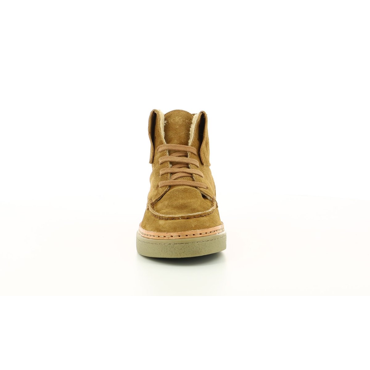 Sneakers Hautes Femme Stream camel Chaussures Femme Kickers