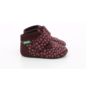 Kickers KICKCHOBON BORDEAUX ROSE FLEURI