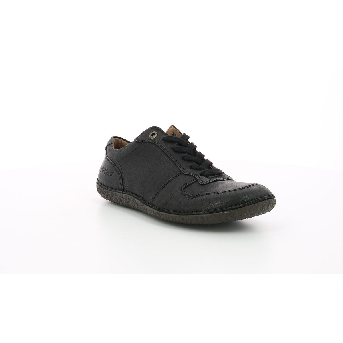 Derbies Femme Home noir Chaussures Femme Kickers