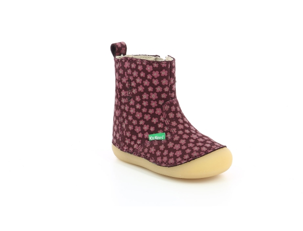 Kickers SOCOOL BORDEAUX ROSE FLEURI