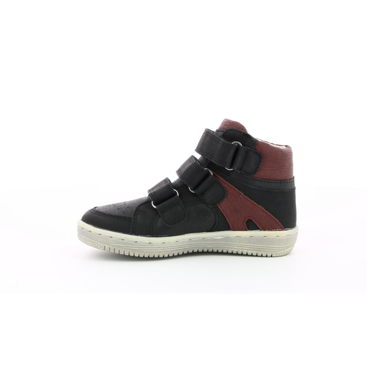 Sneakers Hautes Bébé Lohan noir bordeaux Chaussures Bébé