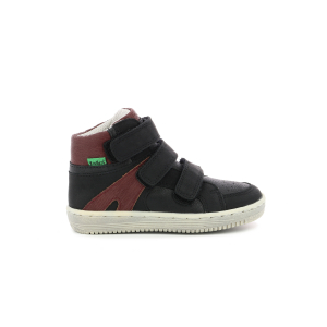 Kickers LOHAN BLACK BURGUNDY