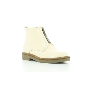 Kickers OXFORDOZIP PATENT WHITE