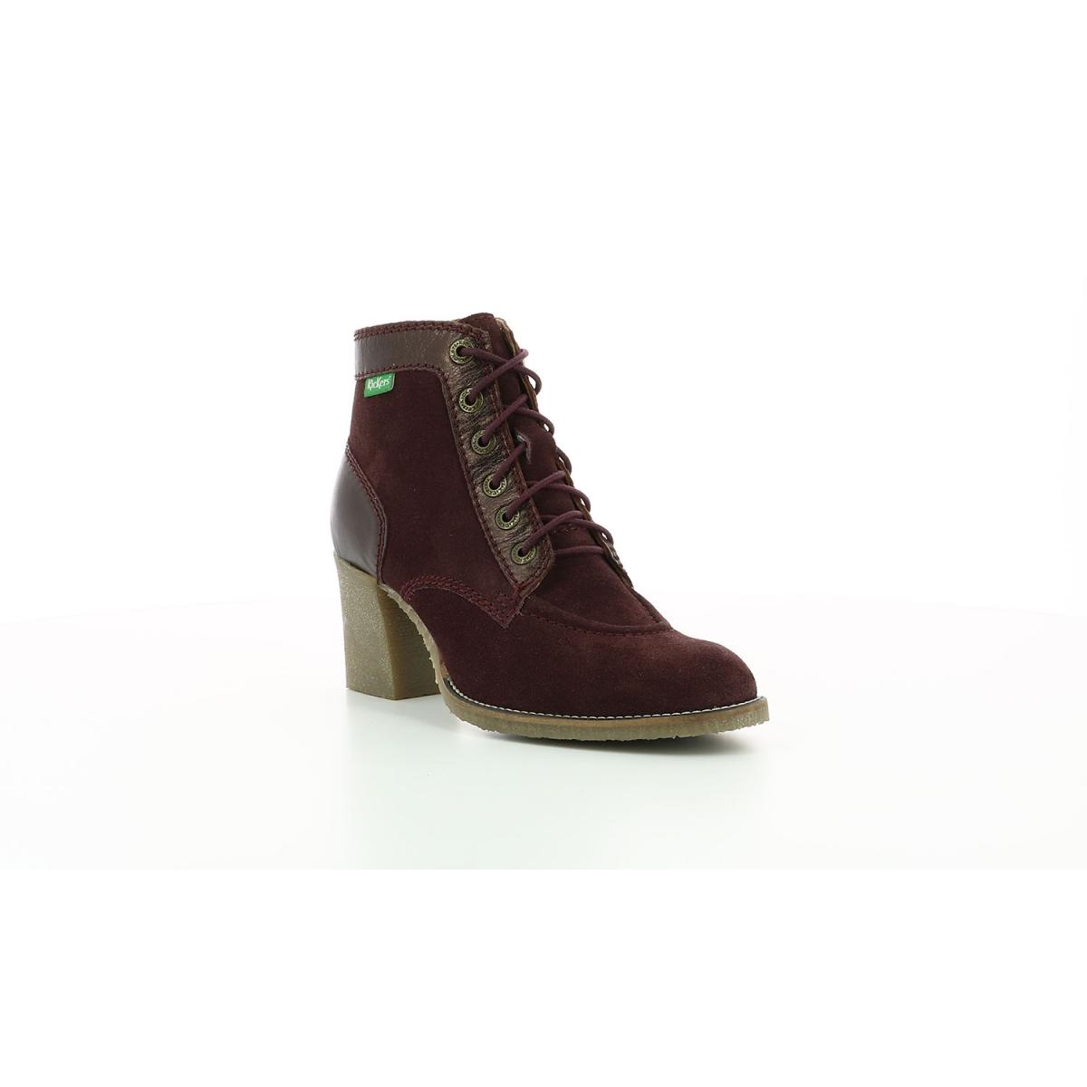 Bottillons pour femme Mylegend violet métallisé Chaussures