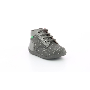 Kickers BONZIP-2 GRIS METALLIQUE