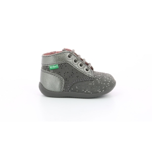 Kickers BONZIP GRIS METALLIQUE