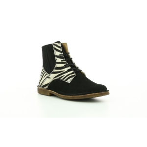 Kickers TITI BLACK PRINTED ZEBRA