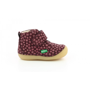 Kickers SABIO BORDEAUX ROSE FLEURI