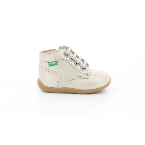 Kickers BONZIP-2 METALLIZED OFF WHITE