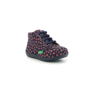 Kickers BILLYZIP MARINE ROSE FLEURI
