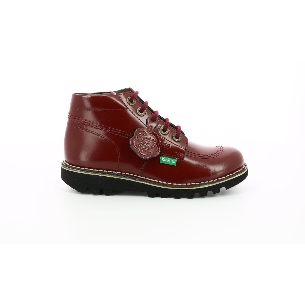 Boots Femme Neorallye rouge foncé Chaussures Femme Kickers