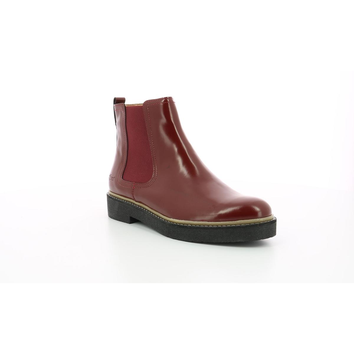 Boots Femme Oxfordchic rouge foncé Chaussures Femme Kickers
