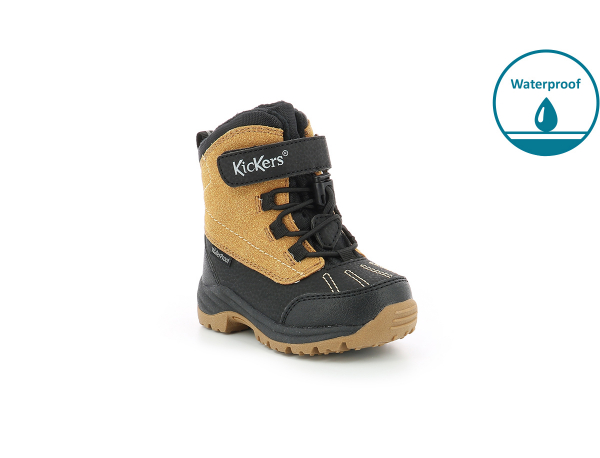 Kickers JUMP WPF BLACK CAMEL
