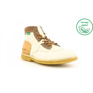 Kickers KICK LEGEND BLANC MARRON BEIGE FEMME
