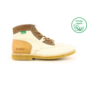 Kickers KICK LEGEND BLANCO MARRÓN BEIGE